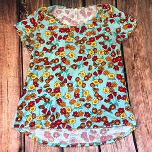 LulaRoe classic fit floral tee